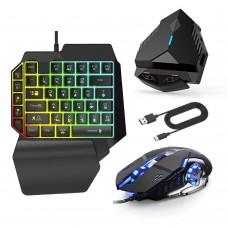 Клавиатура и мышь Ling Zha Combo. Игровой комплект 4в1 для смартфона