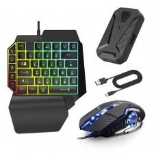 Клавиатура и мышь Mix Pro. Игровой комплект 4в1 для смартфона