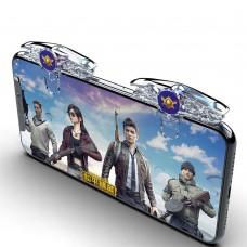 Игровой контроллер F301 для смартфонов. Триггер для мобильных игр (PUBG, Fortnite, Call of Duty)